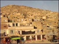 Mud homes on hillsides