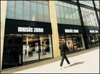 Music Zone store