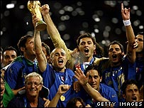 The Italian team after winning the 2006 World Cup