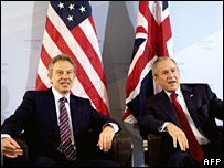 Tony Blair and President Bush