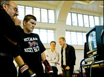 Ricky Hatton monitors the results