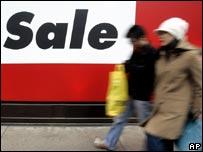 Sale shoppers on London's Oxford Street