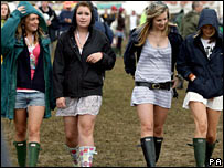 Glastonbury revellers