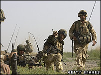 British troops in the Garmsir district. 16/05/2007