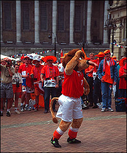 Dutch fans in Birmingham, 1996