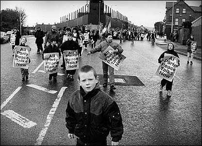 Protest in Belfast, 1996