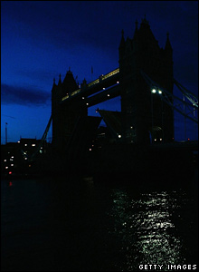 Tower Bridge during the lights out