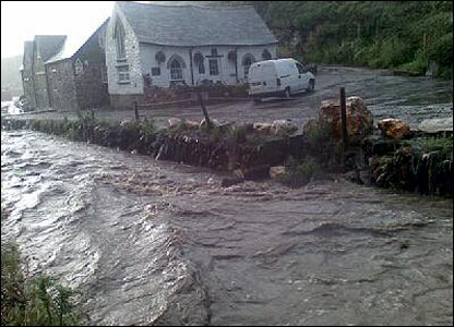 Boscastle flooding copyright Hedley Venning