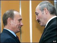 Russian President Vladimir Putin and Belarus President Alexander Lukashenko