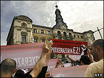 Nationalist demonstration in Bilbao