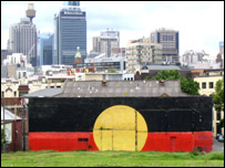 Aboriginal mural in Sydney