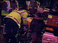 Scene of the M4 coach crash