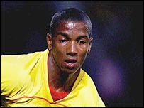 Watford winger Ashley Young