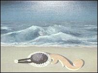 Les Reflets du Temps by Rene Magritte (detail)