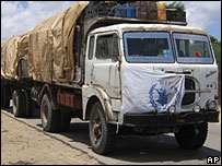 WFP truck with food aid for Somalia (Archive picture)