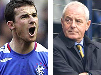 Rangers' Barry Ferguson and Scotland boss Walter Smith