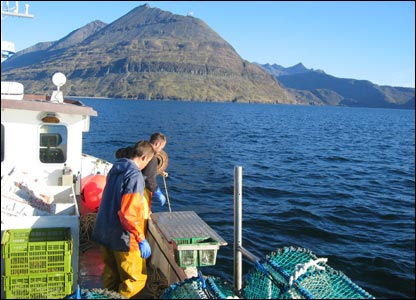 Fishing near the Isle of Skye