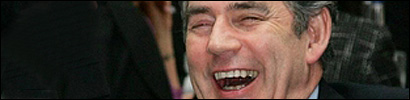 Gordon Brown laughing