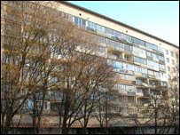 Soviet-era apartment block