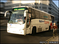 National Express coach in London