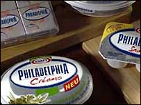 Philadelphia soft cheese is made by Kraft