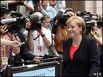 Chancellor Merkel at EU summit