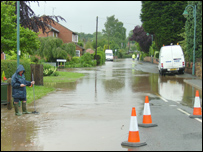 flood in Woodborough