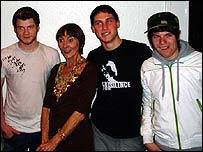 EastEnders actress June Brown with Enter Shikari