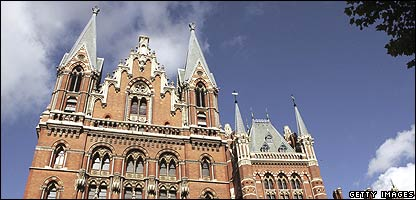 The Midland Grand Hotel at St Pancras station
