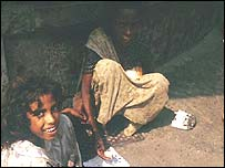 Street children in India