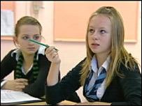 Pupils wearing school uniforms
