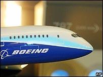 Model of the Boeing 787 Dreamliner