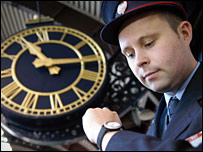 GNER customer service assistant Michael Kenny