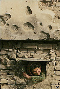 Afghan refugee girl