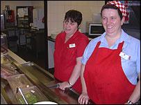 Staff Mary and Caroline at Hockliffe