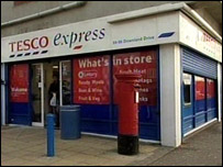 The Tesco Express store in Downland Drive