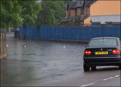 Flooding in Glasgow