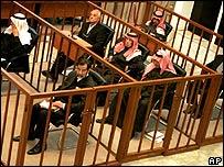 Saddam Hussein y otros acusados en el juicio de Dujail
