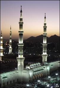 Mezquita en Medina, Arabia Saudita