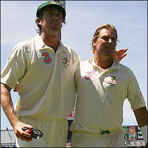 Glenn McGrath and Shane Warne