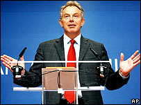 UK Prime Minister Tony Blair after the deal