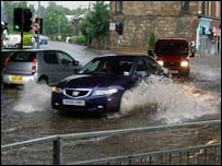 Flooding in Cathcart (Pic by Alan Rhodes)