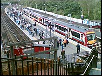 Train at Springburn Station