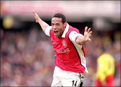 Thierry Henry scores against Watford in 200