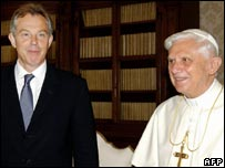 Tony Blair and the Pope