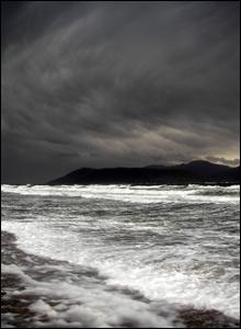 Storm clouds over Arran