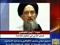 Ayman Al-Zawahiri (still taken from Al-Jazeera)