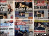Prensa reportando la muerte de Saddam Hussein.