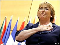 Presidenta de Chile, Michelle Bachelet (foto archivo)