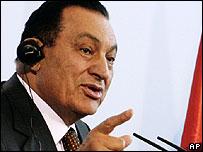 Egyptian President Hosni Mubarak